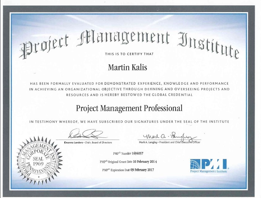 PMP (Project Management Professional) | Martin Kalis