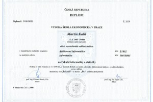 Bachelor degree – Bc. Martin Kališ