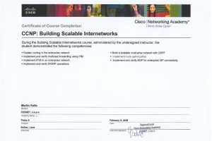CCNP1 – Building Scalable Cisco Internetworks