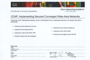 CCNP2 – Implementing Secure Converged Wide-Area Networks