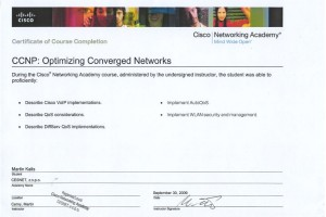 CCNP4 – Optimizing Converged Networks